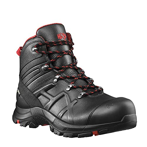 aa501ba2e88 Haix Black Eagle Safety 54 Mid Light S3-Safety Shoe Good Protection  Function Black-red
