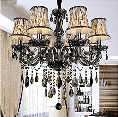 New Modern led crystal chandeliers for kitchen room Livingroom Bedroom Gray Color K9 crystal lustres de teto ceiling chandelier