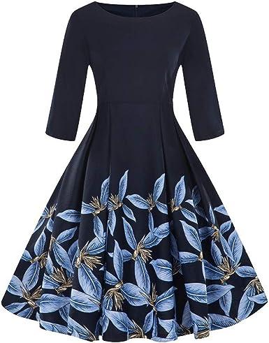 Vestidos de Fiesta Mujer Cortos Lanskirt Vestido de Manga Larga de ...