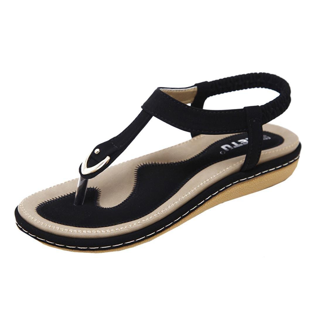 Angelof Sandales Femmes, Sandales Plates BohèMe Femmes Chaussures Glisser Rivet Escarpin Pied...
