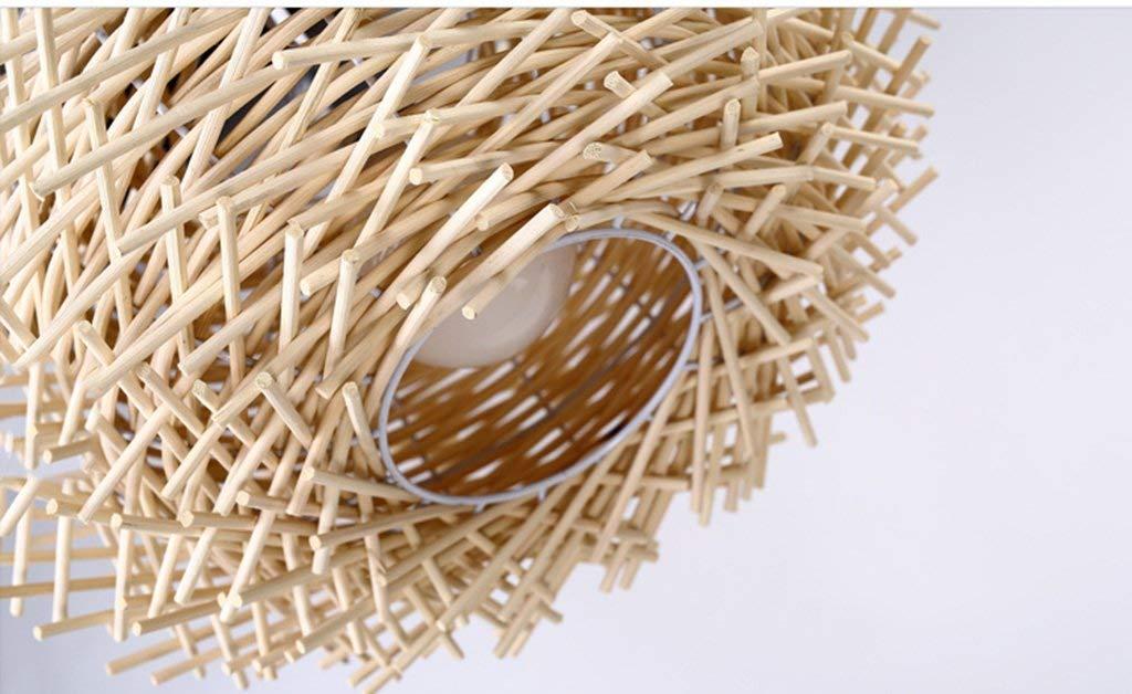 Moderne Kreative Individualität Led Led Led Leuchten Rattan Terrasse Esszimmer Schlafzimmer Retro Folk Kronleuchter Aus (Farbe  Weiß, Größe  M) 479b80