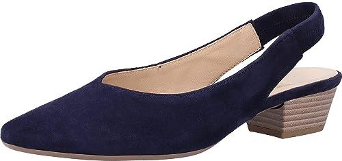 06a75357650 Gabor Heathcliff Womens Slingback Court Shoes 3.5 UK Bluette Suede