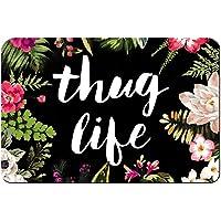Thug Life Flowers Welcome Doormat Durable Machinewashable Door Mat 23.6 * 15.7 inch