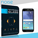 Noise Samsung Galaxy J7 - 6 Tempered Glass screen Protector + Transparent Soft Silicon Flexible TPU Back Case Cover (Tempered Glass)