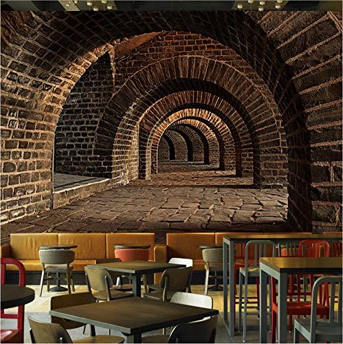 Weaeo Custom Mural 3D Underground Tunnel Access Bar Ktv ...