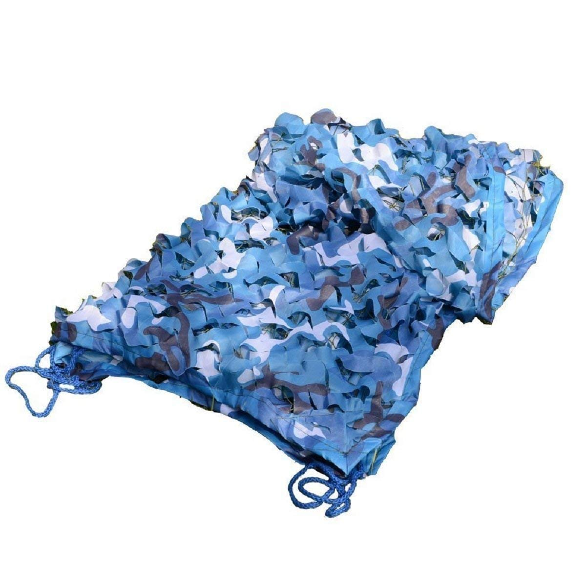 4m × 6m LPD-Filet de camouflage Filet de Camouflage, bÂche de Prougeection Bleue Contre Le Soleil, Toile de Camping, Tissu Oxford, adapté à la Chasse Militaire (Taille   4m × 6m)