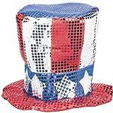 : Patriotic Sequin Fabric Hat