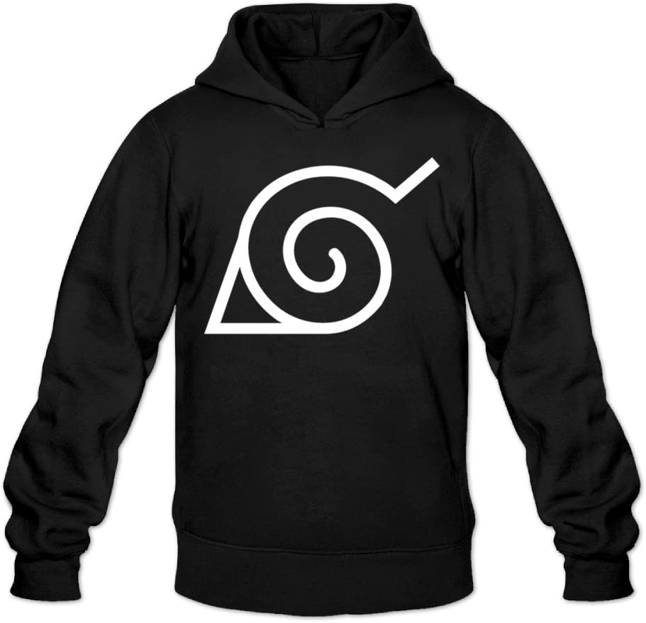 CYANY Japanese Comic Village Logo Naruto Shippuden Women's Funniest Hoodies Sweatshirt Black