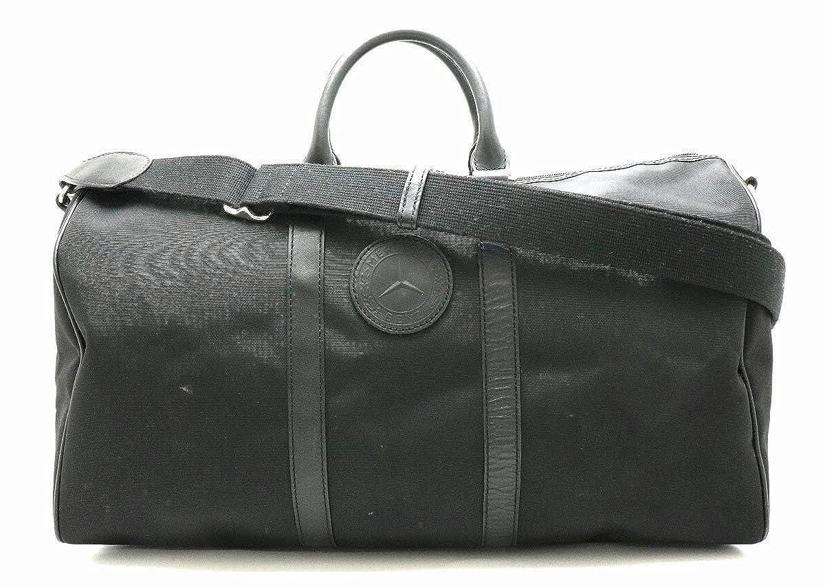 [ハンティング ワールド] HUNTING WORLD メルセデスベンツ コラボ ボストンバッグ 2WAY キャンバス レザー 黒 ブラック シルバー金具 MBI-7405 [中古]   B07NYH6XP8