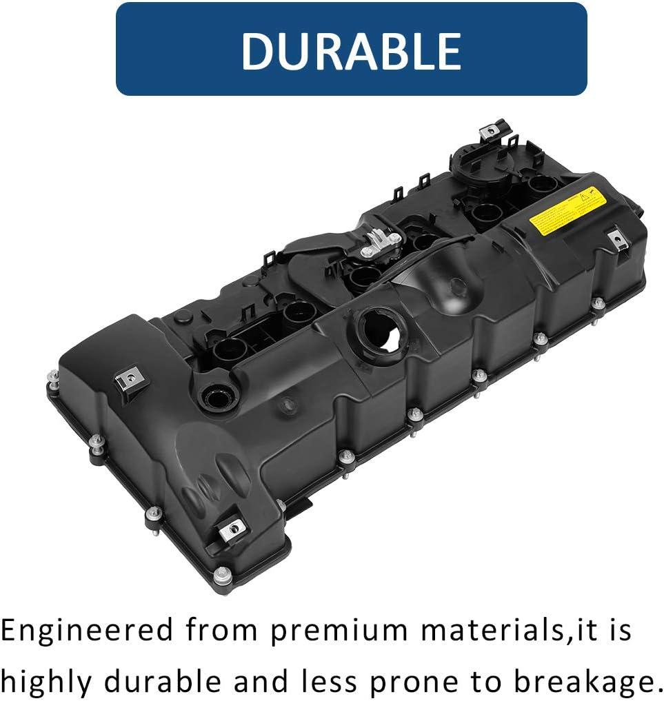 X AUTOHAUX 11127552281 Car Engine Valve Cover Replacement Gasket for BMW E70 E82 E90 E91 Z4 X3 X5 128i 328i 528i