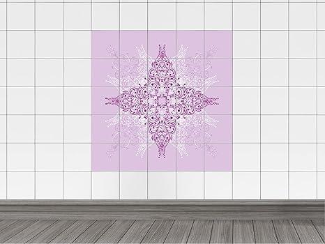 Adesivo stampa su piastrelle per cucina con ornamenti modello