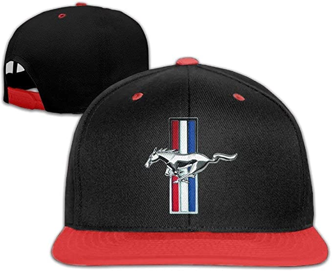 ABSOP Ford Mustang GT Adjustable Snapback Hip-Hop Baseball Cap Red ...