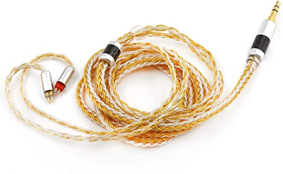 2pin 0.78-2.5mm, Grey Linsoul Tripowin Zonie 16 Core Silver Plated Cable SPC Earphone Cable