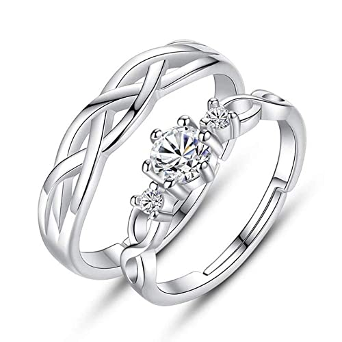 8f23391f51 Buy Valentine Gift & Proposal Couple Ring Adjustable Size for Women & Men  Online at Low Prices in India | Amazon Jewellery Store - Amazon.in