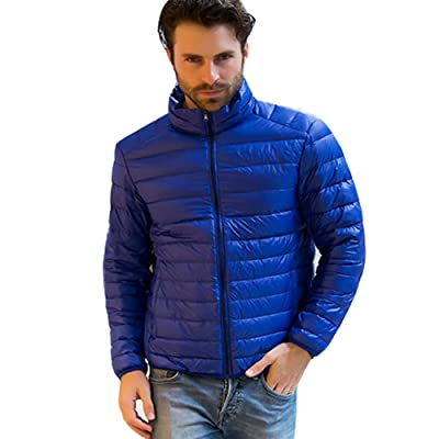 Gaurave Men's Regular-Fit Lightweight Packable Down Jacket at Men's Clothing store