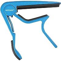 Neewer 99019298 - Capo de guitarra de un solo mano, facil de cambiar, color azul