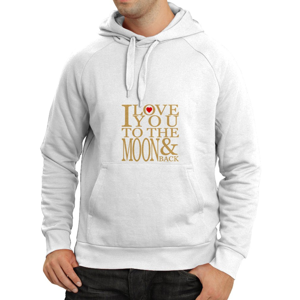 lepni.me Unisex Hoodie I Love You to The Moon and Back Awesome Valentines Love Gift