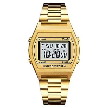 WULIFANG Mens Sports Watch Electrónica Digital Led Reloj De Hombre Impermeable Reloj De Hombre Oro Rosa