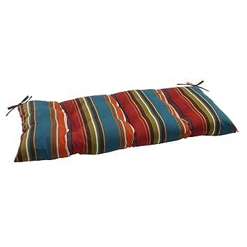 Amazon Com 44 Moroccan Striped Outdoor Patio Tufted Loveseat