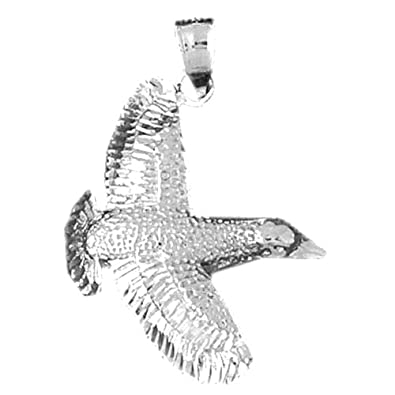 amazon silver bird pendant 32 mm jewelry Bird of Prey Klingon Battleship silver bird pendant 32 mm