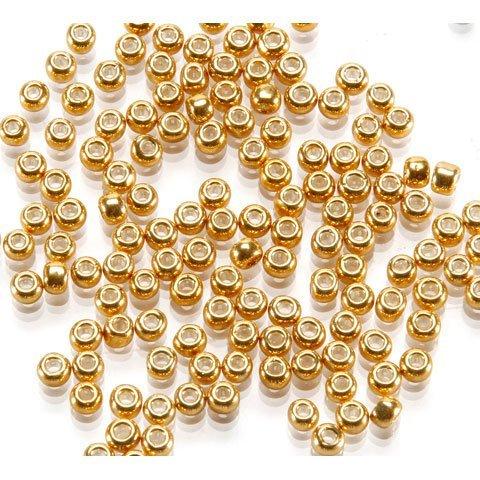 Bulk Buy: Darice DIY Crafts Toho Japanese Glass Seed Beads Galvanized Gold 6/0 4mm (3-Pack) 1952-50