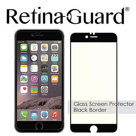 5df1b9db7ff RetinaGuard Anti Blue Light Tempered Glass Screen Protector for iPhone 6, 6S  (Black Border