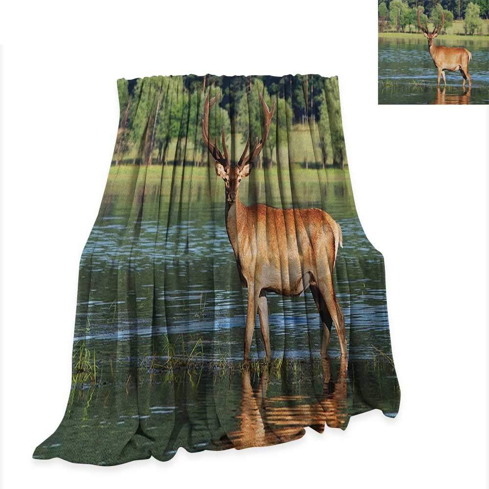 Amazon.com: Anyangeight Deer Throw Blanket Cute Mountain ...
