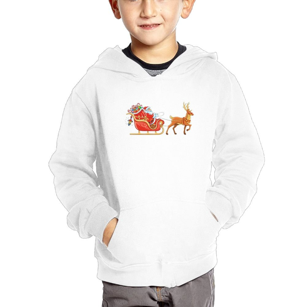 Merry Christmas Personality Hooded Pocket Sweater for Children Spring//Autumn//Winter Outfit Long-Sleeved Hoodie