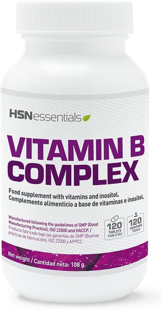 HSN Essentials - Vitamina B Complex - Vitaminas del grupo B: B1, B2, B3, B5, B6, B12, Biotina y Ácido Fólico - 120 tabletas: Amazon.es: Salud y cuidado personal