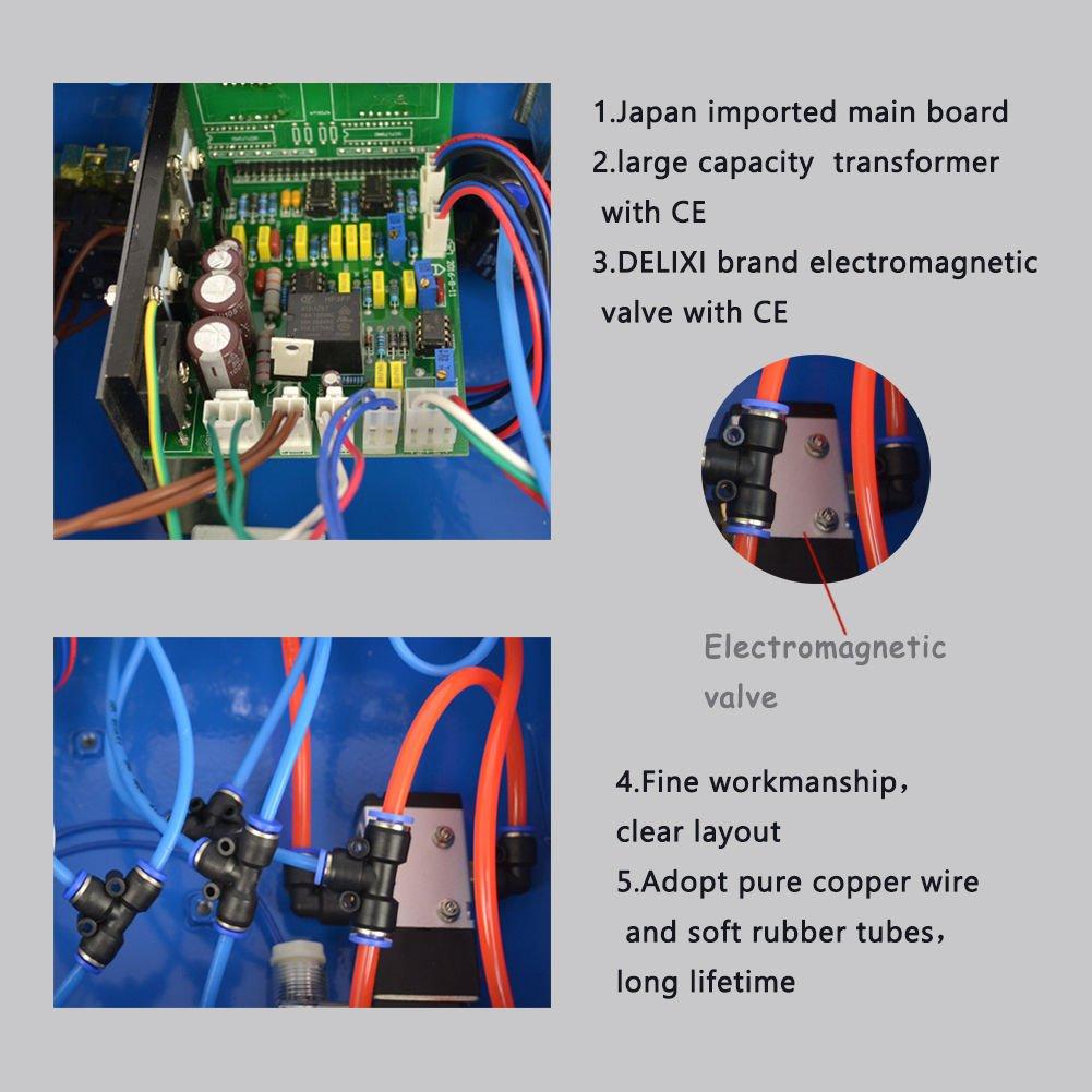 110V 45L 50W Powder Coating System with Spraying Gun WX-958 Electrostatic Machine