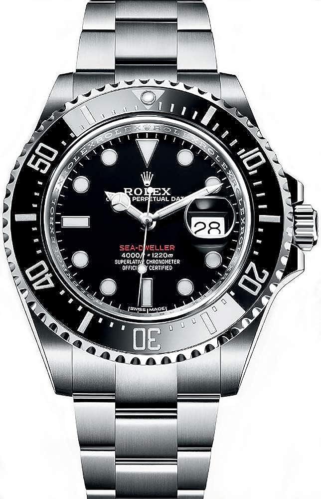 Rolex Oyster Perpetual Sea-Dweller 43 mm cerámica bisel acero inoxidable reloj para hombre 126600BKSO