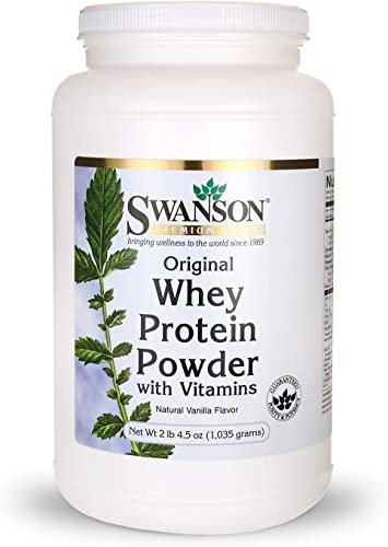 Whey Protein Powder 36.5 oz vanilla flavor 1,035 grams