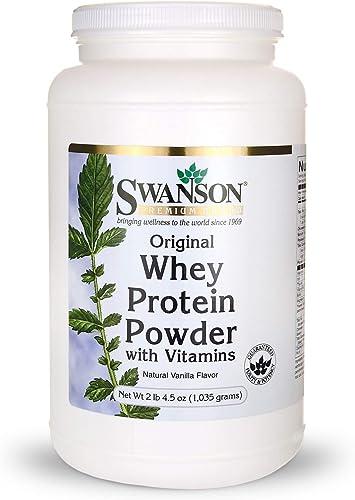 Whey Protein Powder 36.5 oz vanilla flavor 1,035 gram