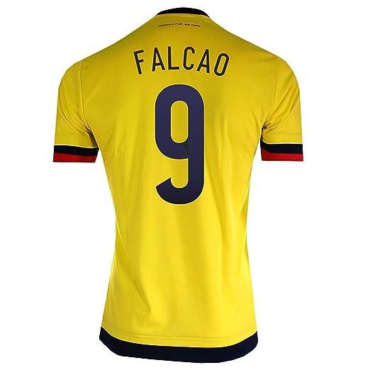 5e5eca594485c Amazon.com: Falcao #9 Colombia Home Soccer Jersey 2015 (S): Clothing