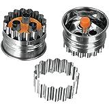 Metaltex Ausstechformen-Set, 3 Löcher, Edelstahl, mit Ausstoßer