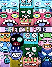 """Sketch Pad: Graffiti Art Cover - Sketch Book for kids and adults - Blank Drawing Pad to Practice How to Draw, Doodle and Color Extra Large 8.5"""" x 11"""""""