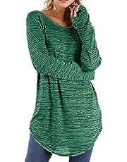 Women's Tops Toamen, Clothes Sale Clearance Ladies Irregular Hem Long Sleeve Casual Loose Blouses Shirts Tee Top Sweatshirts
