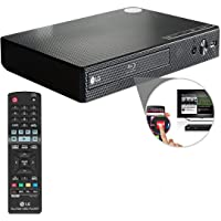 OREI LG Electronics BP550 Wi-Fi and 3D Smart Blu-Ray Disc Player and HDMI Cable + Remote