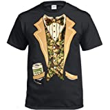 Camo Tuxedo with Bowtie and Beer Can T-Shirt Funny Shirts Funny Tshirts Tuxedo t Shirt