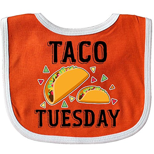 Inktastic - Cinco De Mayo Taco Tuesday Baby Bib Orange/White -