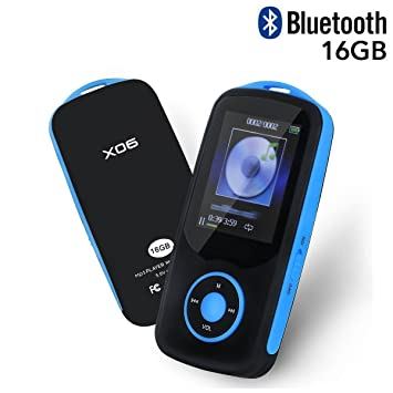 Mp3 Player With Bluetooth 16GB Support Up To 64GB Blue By TIMMY