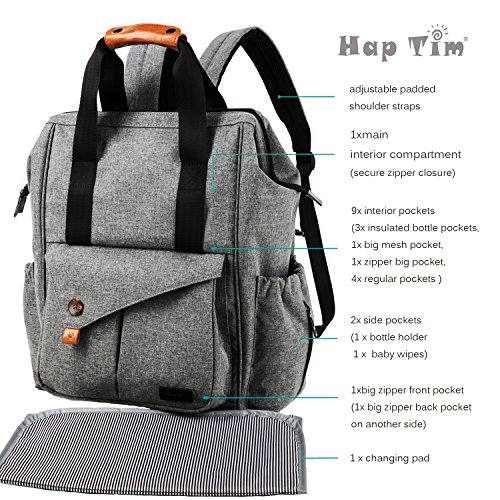 Haptim Multi Function Baby Diaper Bag Backpack With