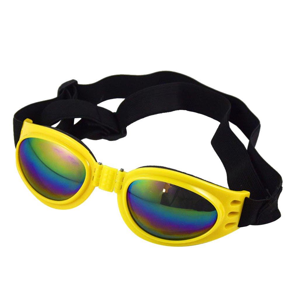 Alxcio Lunettes de Soleil Goggles Lunettes de Protection UV Solaires Yeux pour Chien Animaux - Rose
