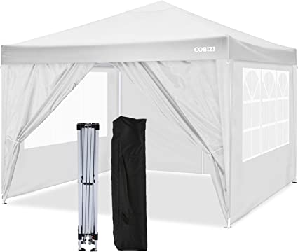 8xStakes/&4xRopes Outdoor Event Shelter Party Tent Commercial Gazebo With Air Vent and Carry Bag 3x3M, Blue 4 Weight Bags Cobizi Gazebos 3x3m Waterproof Pop up Gazebo With 4 Side Walls