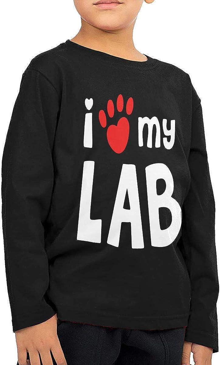 Childrens I Love My Lab Labrador ComfortSoft Long Sleeve Tee