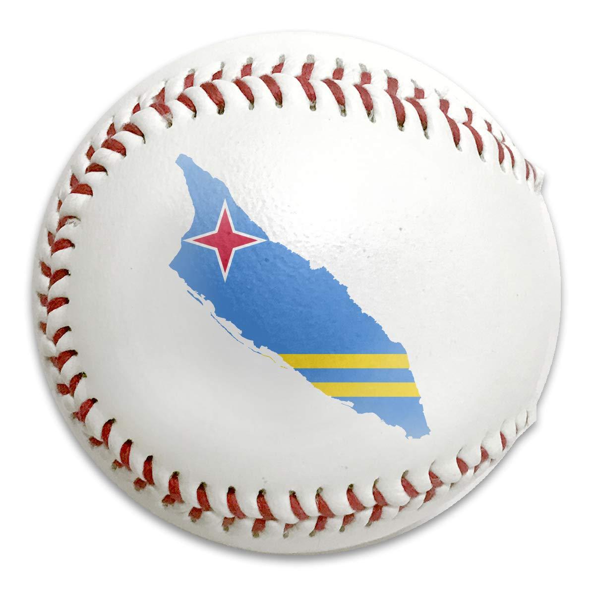 LQLDHJ Flag of Aruba Training Baseballs Outdoor Sports Baseball Standard 9 Baseball Can Be Used As A Gift
