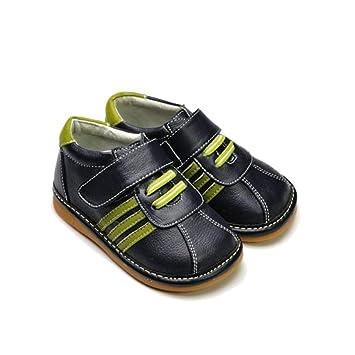 65582d4f8fdc3 FREYCOO Chaussures semelle souple garçon Basket à lacets Garçon Noir -  Pointure  22