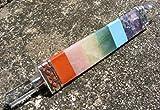 7 chakra/quartz triangular 3 sided healing wand reiki, meditation, mystic