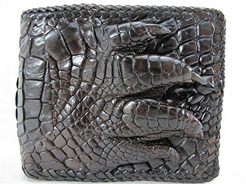 Wallet Leather Skin Brown Alligator Handmade PELGIO Crocodile Genuine Claw Foot Fp1gUZPqw