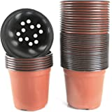 Boom In Pot Terras.Amazon Com Plastic Pots For Plants Cuttings Seedlings 4 Inch